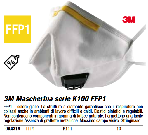 3m mascherina ffp1
